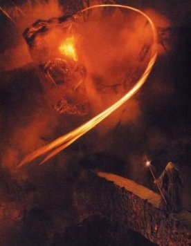 Balrog vs. Gandalf